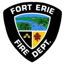 Fort Erie Fire Department Logo picture of niagara river maple leaf and bridge