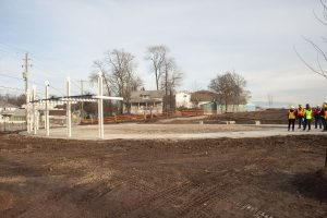 Bay Beach in Fort Erie, construction moving along well!